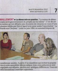 La Provence 08 11 2012