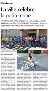 article Mallemort à Bicyclette