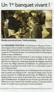 article Régional Banquet Vivant