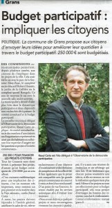 Budget participatif Grans